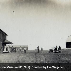 Max Albert Farm, near Beiseker, circa 1910. Beiseker Station Museum (85-26-5).